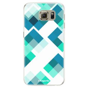 Silikonové pouzdro iSaprio (mléčně zakalené) Abstract Squares 11 na mobil Samsung Galaxy S6