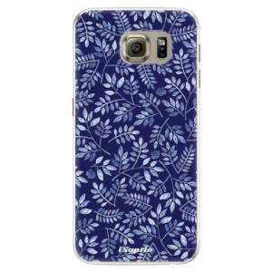 Silikonové pouzdro iSaprio (mléčně zakalené) Blue Leaves 05 na mobil Samsung Galaxy S6