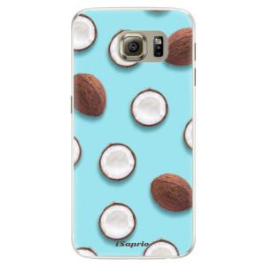 Silikonové pouzdro iSaprio (mléčně zakalené) Kokos 01 na mobil Samsung Galaxy S6