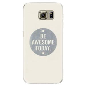 Silikonové pouzdro iSaprio (mléčně zakalené) Awesome 02 na mobil Samsung Galaxy S6
