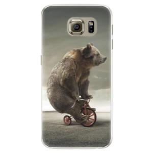 Silikonové pouzdro iSaprio (mléčně zakalené) Medvěd 01 na mobil Samsung Galaxy S6