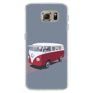 Silikonové pouzdro iSaprio (mléčně zakalené) VW Bus na mobil Samsung Galaxy S6