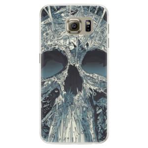 Silikonové pouzdro iSaprio (mléčně zakalené) Abstract Skull na mobil Samsung Galaxy S6