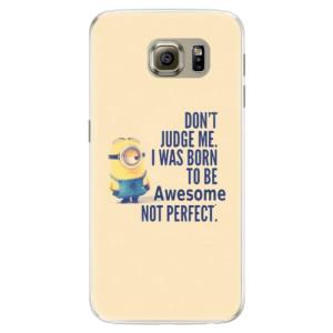 Silikonové pouzdro iSaprio (mléčně zakalené) Be Awesome na mobil Samsung Galaxy S6