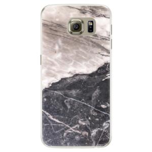 Silikonové pouzdro iSaprio (mléčně zakalené) BW Mramor na mobil Samsung Galaxy S6