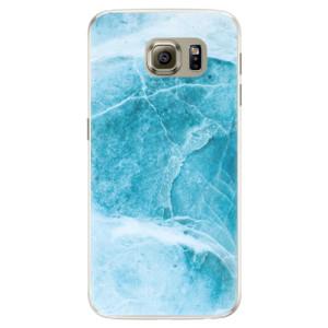 Silikonové pouzdro iSaprio (mléčně zakalené) Blue Marble na mobil Samsung Galaxy S6