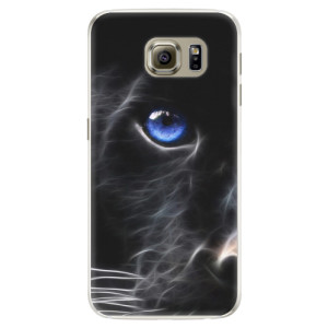 Silikonové pouzdro iSaprio (mléčně zakalené) Black Puma na mobil Samsung Galaxy S6