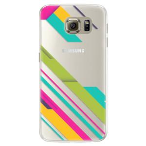 Silikonové pouzdro iSaprio (mléčně zakalené) Barevné Pruhy 03 na mobil Samsung Galaxy S6