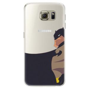 Silikonové pouzdro iSaprio (mléčně zakalené) BaT Komiks na mobil Samsung Galaxy S6