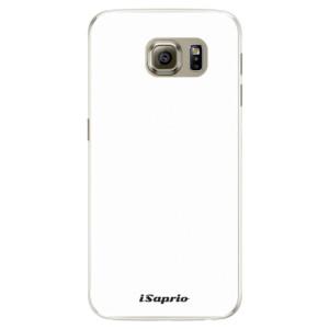 Silikonové pouzdro iSaprio 4Pure bílé na mobil Samsung Galaxy S6