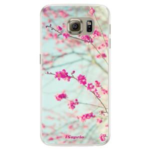 Silikonové pouzdro iSaprio (mléčně zakalené) Blossom 01 na mobil Samsung Galaxy S6 Edge