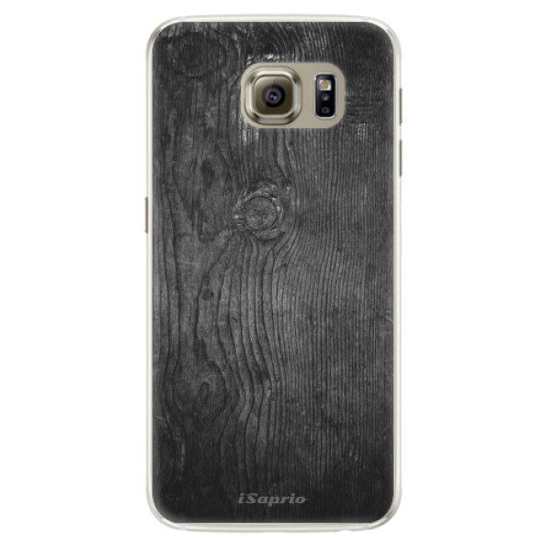 Silikonové pouzdro iSaprio (mléčně zakalené) Black Wood 13 na mobil Samsung Galaxy S6 Edge (Silikonový kryt, obal, pouzdro iSaprio (podkladové pouzdro není čiré, ale lehce mléčně zakalené) Black Wood 13 na mobilní telefon Samsung Galaxy S6 Edge)
