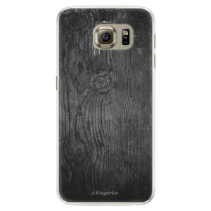 Silikonové pouzdro iSaprio (mléčně zakalené) Black Wood 13 na mobil Samsung Galaxy S6 Edge