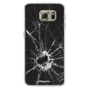 Silikonové pouzdro iSaprio (mléčně zakalené) Broken Glass 10 na mobil Samsung Galaxy S6 Edge