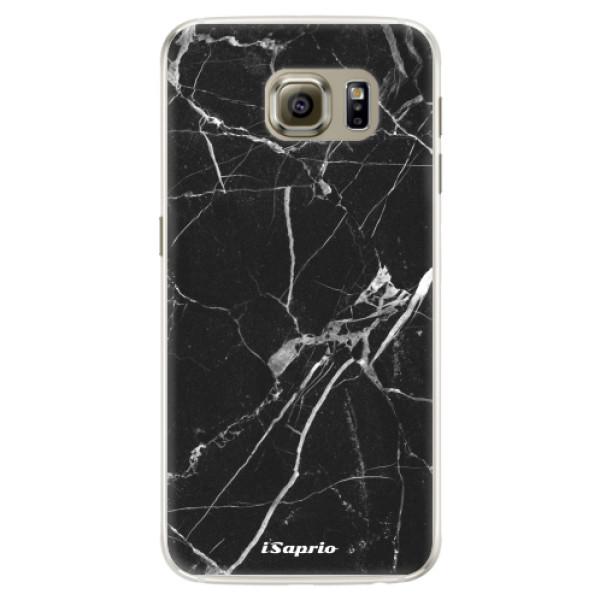 Silikonové pouzdro iSaprio (mléčně zakalené) Black Marble 18 na mobil Samsung Galaxy S6 Edge (Silikonový kryt, obal, pouzdro iSaprio (podkladové pouzdro není čiré, ale lehce mléčně zakalené) Black Marble 18 na mobilní telefon Samsung Galaxy S6 Edge)