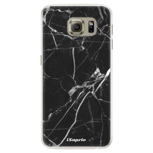 Silikonové pouzdro iSaprio (mléčně zakalené) Black Marble 18 na mobil Samsung Galaxy S6 Edge