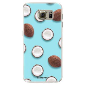 Silikonové pouzdro iSaprio (mléčně zakalené) Kokos 01 na mobil Samsung Galaxy S6 Edge
