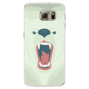 Silikonové pouzdro iSaprio (mléčně zakalené) Naštvanej Medvěd na mobil Samsung Galaxy S6 Edge