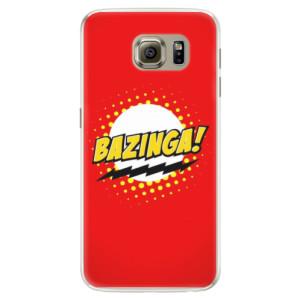 Silikonové pouzdro iSaprio (mléčně zakalené) Bazinga 01 na mobil Samsung Galaxy S6 Edge