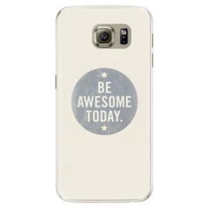 Silikonové pouzdro iSaprio (mléčně zakalené) Awesome 02 na mobil Samsung Galaxy S6 Edge