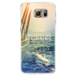 Silikonové pouzdro iSaprio (mléčně zakalené) Beginning na mobil Samsung Galaxy S6 Edge