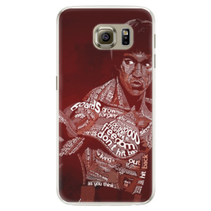 Silikonové pouzdro iSaprio (mléčně zakalené) Bruce Lee na mobil Samsung Galaxy S6 Edge