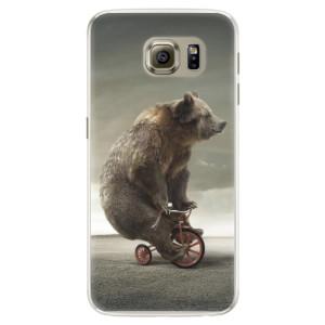 Silikonové pouzdro iSaprio (mléčně zakalené) Medvěd 01 na mobil Samsung Galaxy S6 Edge