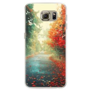 Silikonové pouzdro iSaprio (mléčně zakalené) Podzim 03 na mobil Samsung Galaxy S6 Edge