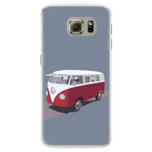 Silikonové pouzdro iSaprio (mléčně zakalené) VW Bus na mobil Samsung Galaxy S6 Edge