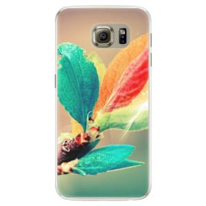 Silikonové pouzdro iSaprio (mléčně zakalené) Podzim 02 na mobil Samsung Galaxy S6 Edge