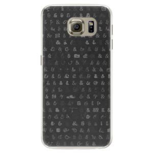 Silikonové pouzdro iSaprio (mléčně zakalené) Ampersand 01 na mobil Samsung Galaxy S6 Edge