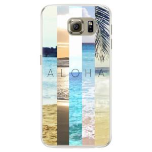 Silikonové pouzdro iSaprio (mléčně zakalené) Aloha 02 na mobil Samsung Galaxy S6 Edge