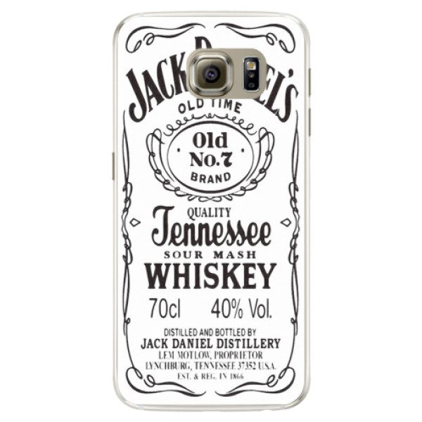 Silikonové pouzdro iSaprio (mléčně zakalené) Jack White na mobil Samsung Galaxy S6 Edge (Silikonový kryt, obal, pouzdro iSaprio (podkladové pouzdro není čiré, ale lehce mléčně zakalené) Jack White na mobilní telefon Samsung Galaxy S6 Edge)
