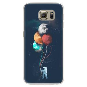 Silikonové pouzdro iSaprio (mléčně zakalené) Balónky 02 na mobil Samsung Galaxy S6 Edge