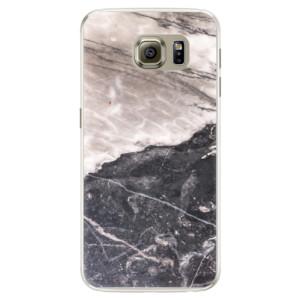 Silikonové pouzdro iSaprio (mléčně zakalené) BW Mramor na mobil Samsung Galaxy S6 Edge