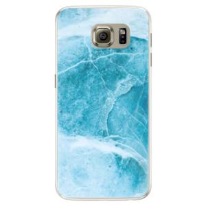 Silikonové pouzdro iSaprio (mléčně zakalené) Blue Marble na mobil Samsung Galaxy S6 Edge