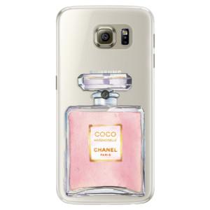 Silikonové pouzdro iSaprio (mléčně zakalené) Chanel Rose na mobil Samsung Galaxy S6 Edge