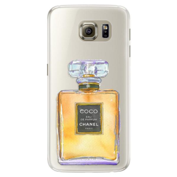 Silikonové pouzdro iSaprio (mléčně zakalené) Chanel Gold na mobil Samsung Galaxy S6 Edge (Silikonový kryt, obal, pouzdro iSaprio (podkladové pouzdro není čiré, ale lehce mléčně zakalené) Chanel Gold na mobilní telefon Samsung Galaxy S6 Edge)