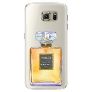 Silikonové pouzdro iSaprio (mléčně zakalené) Chanel Gold na mobil Samsung Galaxy S6 Edge