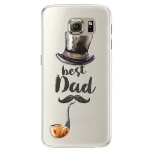 Silikonové pouzdro iSaprio (mléčně zakalené) Best Dad na mobil Samsung Galaxy S6 Edge