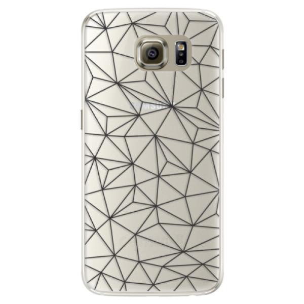 Silikonové pouzdro iSaprio (mléčně zakalené) Abstract Triangles 03 black na mobil Samsung Galaxy S6 Edge (Silikonový kryt, obal, pouzdro iSaprio (podkladové pouzdro není čiré, ale lehce mléčně zakalené) Abstract Triangles 03 black na mobilní telefon Samsu