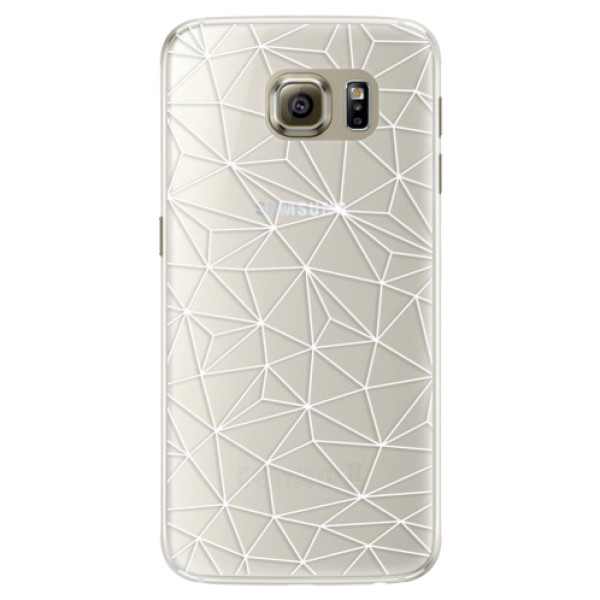 Silikonové pouzdro iSaprio (mléčně zakalené) Abstract Triangles 03 white na mobil Samsung Galaxy S6 Edge (Silikonový kryt, obal, pouzdro iSaprio (podkladové pouzdro není čiré, ale lehce mléčně zakalené) Abstract Triangles 03 white na mobilní telefon Samsu
