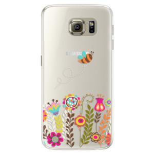 Silikonové pouzdro iSaprio (mléčně zakalené) Včelka Pája 01 na mobil Samsung Galaxy S6 Edge