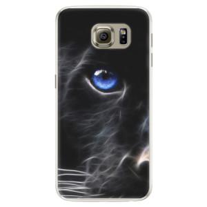 Silikonové pouzdro iSaprio (mléčně zakalené) Black Puma na mobil Samsung Galaxy S6 Edge