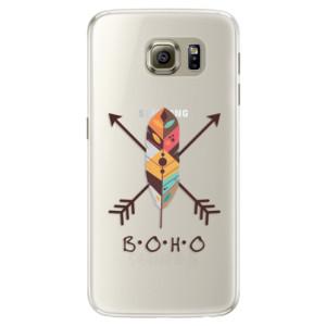 Silikonové pouzdro iSaprio (mléčně zakalené) BOHO na mobil Samsung Galaxy S6 Edge