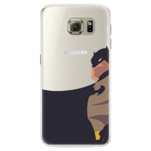 Silikonové pouzdro iSaprio (mléčně zakalené) BaT Komiks na mobil Samsung Galaxy S6 Edge