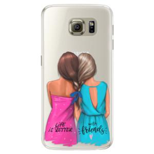 Silikonové pouzdro iSaprio (mléčně zakalené) Best Friends na mobil Samsung Galaxy S6 Edge
