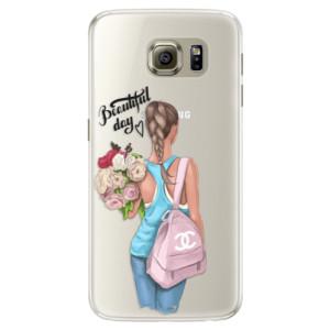 Silikonové pouzdro iSaprio (mléčně zakalené) Beautiful Day na mobil Samsung Galaxy S6 Edge