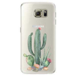 Silikonové pouzdro iSaprio (mléčně zakalené) Kaktusy 02 na mobil Samsung Galaxy S6 Edge