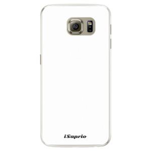 Silikonové pouzdro iSaprio 4Pure bílé na mobil Samsung Galaxy S6 Edge